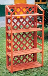 Scaffale legno c grigliato 67x30x125 a zy018 lauro for Fioriera con grigliato brico