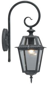 Lanterna milano c braccio grigio ghisa lauro for Arredamento da giardino milano